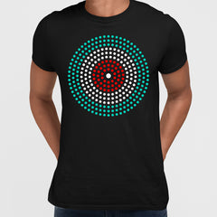 Modern Geometric Elements - Line Dots & Shapes Printed t-shirts Unisex Sample 04
