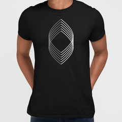 Modern Geometric Elements - Line Dots & Shapes Printed t-shirts Unisex Sample 06