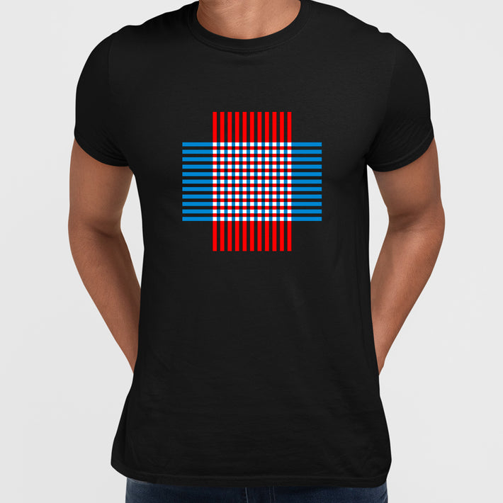 Modern Geometric Elements - Line Dots & Shapes Printed t-shirts Unisex Sample 16