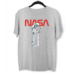 NASA Imagine Love Is In The Air Astronauts Floating in the Space Grey  T-Shirt