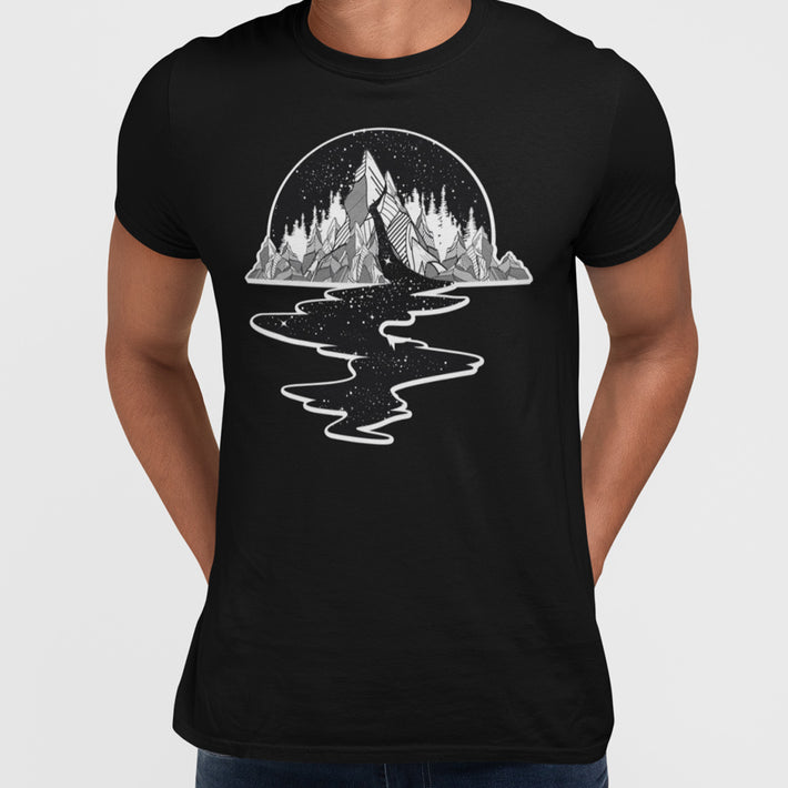 Old Skool River Full Of Stars Hipster Minimal and Abstract T-Shirt for Male & Female