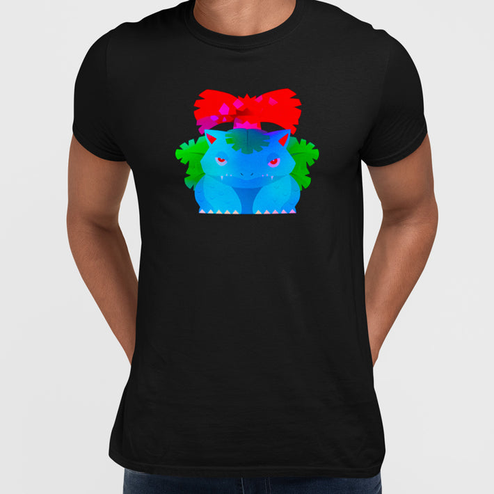 Venusaur  Dual-Type Grass Poison  Pokemon Go Crew Neck Black Tee