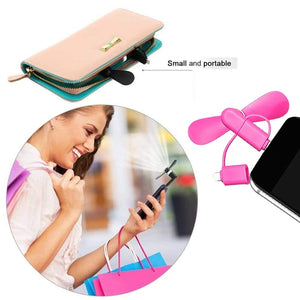 Mini Micro USB Mobile Cell Phone Fan (3 in one) - Seasons Forever