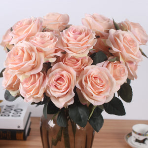 Artificial Silk 1 Bunch French Rose Floral Bouquet - Seasons Forever