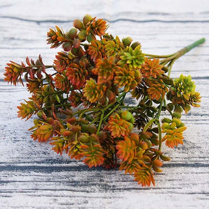 Succulents Artificial Plants Fall Theme - Seasons Forever