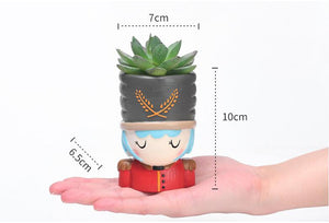 4pcs/set Nutcracker Doll Bonsai Planter - Seasons Forever