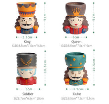 Load image into Gallery viewer, 4pcs/set Nutcracker Doll Bonsai Planter - Seasons Forever