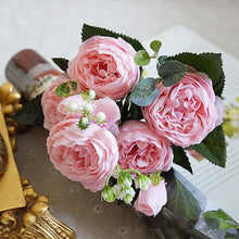 Load image into Gallery viewer, Beautiful Rose Peony Artificial Silk Flowers - Seasons Forever