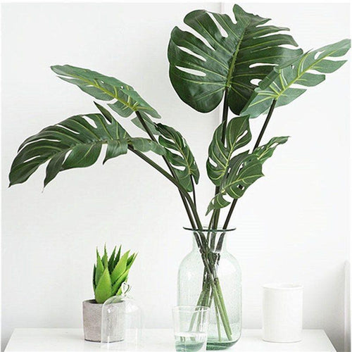 10pcs Monstera Palm Tropical Plant Leaves - Seasons Forever