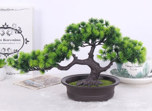 Bonsai Pine Artificial Potted Plant Indoor Decoration - Seasons Forever