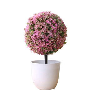 Decorative Potted Faux Flowers - Seasons Forever