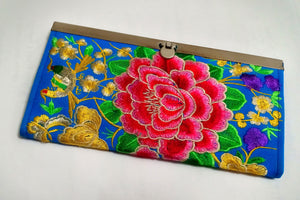 Beautiful Embroidered One-of-a-Kind Clutches/Wallet - Seasons Forever