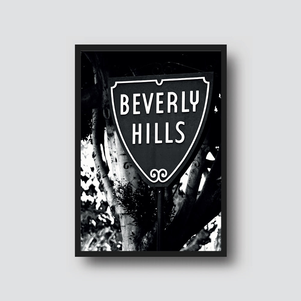 BEVERLY HILLS SIGN PRINT