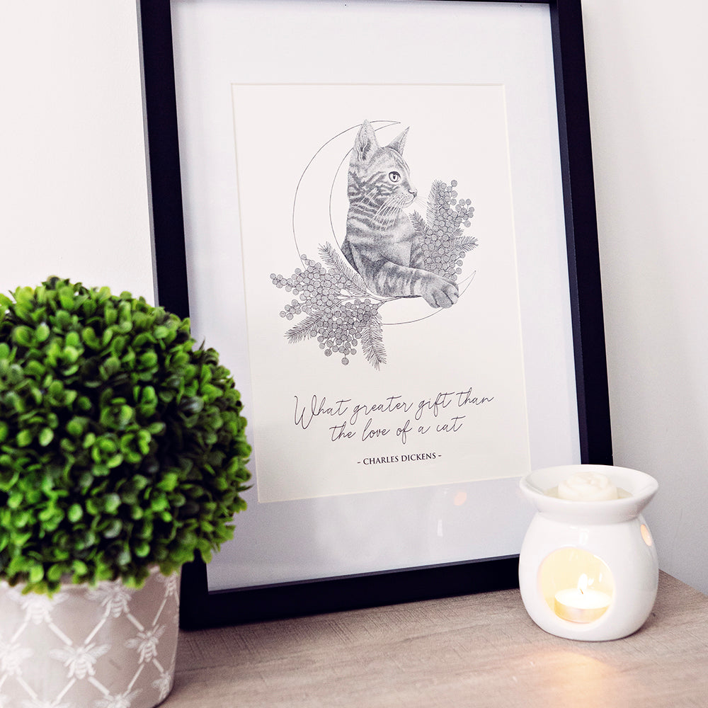 CHARLES DICKENS CAT PRINT BY RHEANNON ORMOND