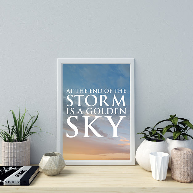 """AT THE END OF A STORM"" PRINT"