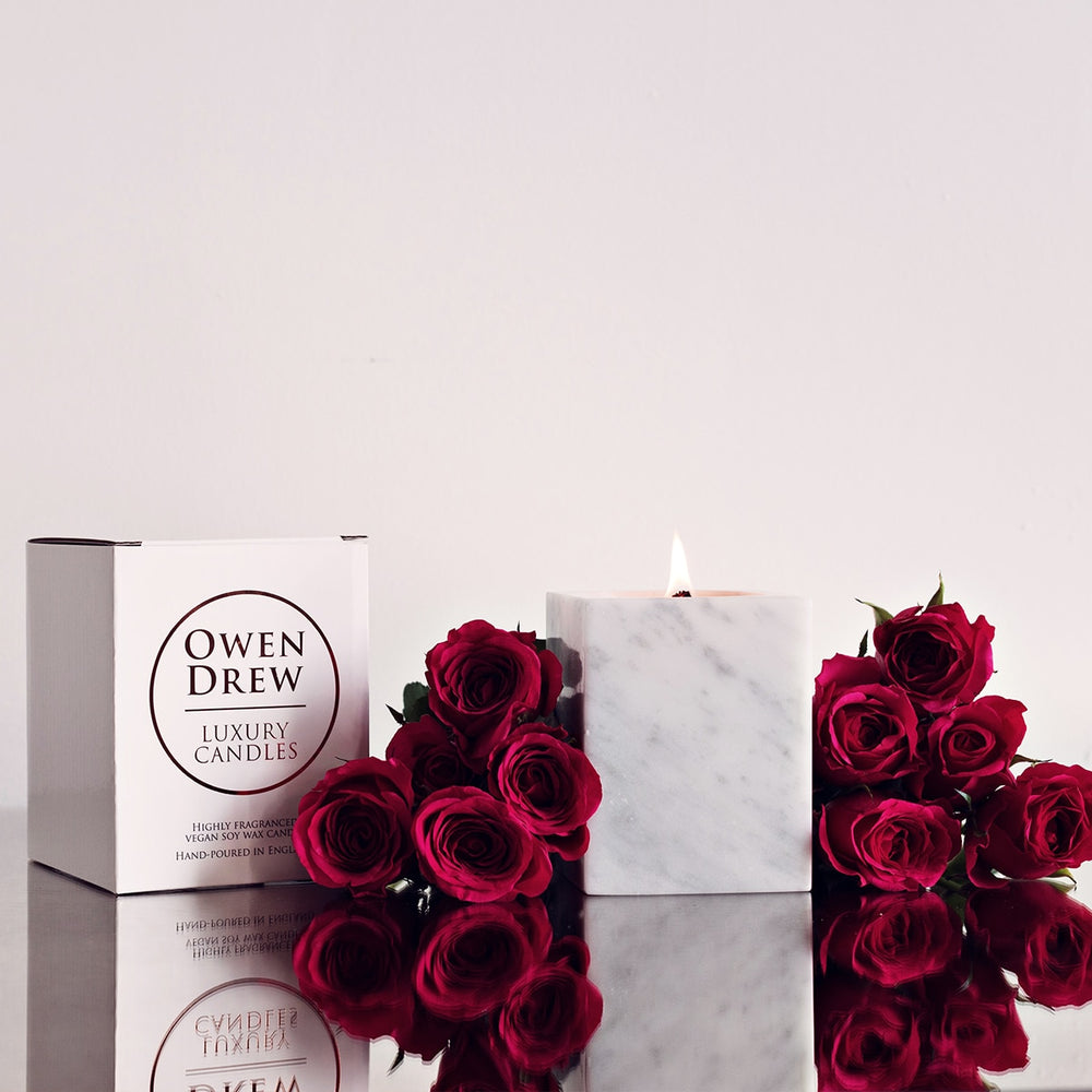 LUXURY CARRARA MARBLE CANDLE