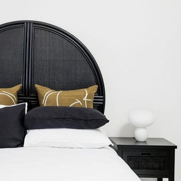 Malam Headboard Black