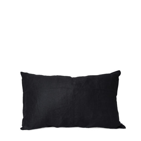 Kim Soo Italian Linen Pillow Case - Black