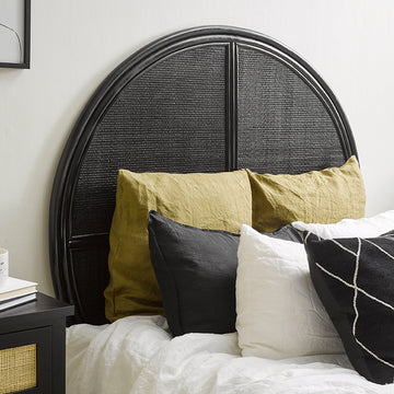 Malam Headboard - Black