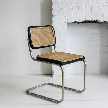 Breuer Dining Chair Rendition - Black and Bleach