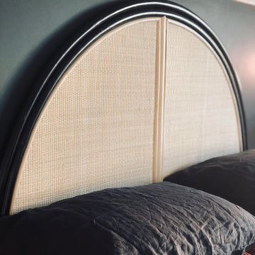 Malam Headboard - Black & Bleach