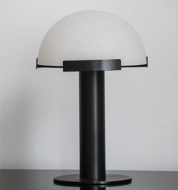Alabaster Table Lamp Black