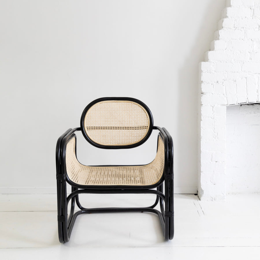 Lillian Chair Black & Bleach
