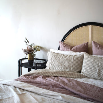 Malam Headboard Black & Bleach