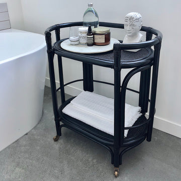 Wiski Bar Cart Black