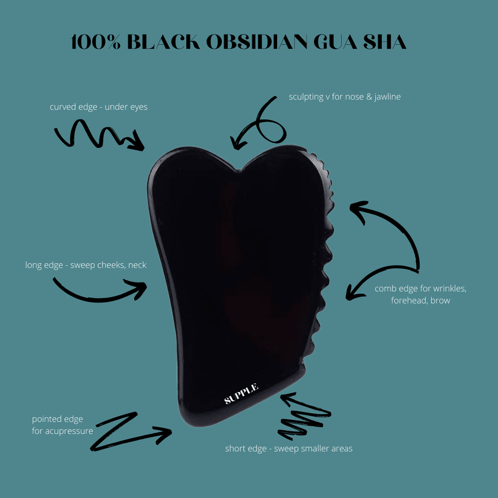 100% Natural Black Obsidian Gua Sha - PRE ORDER NOW - Supple Skin Co