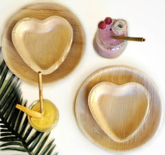Palm leaf tableware pack (8 pieces)