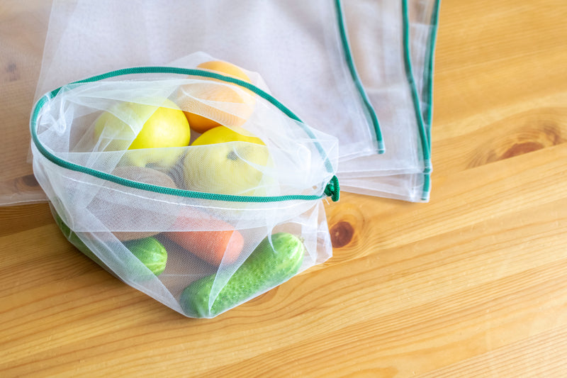Set of 4 mesh bags for fruit and vegetables - PACKAWIN
