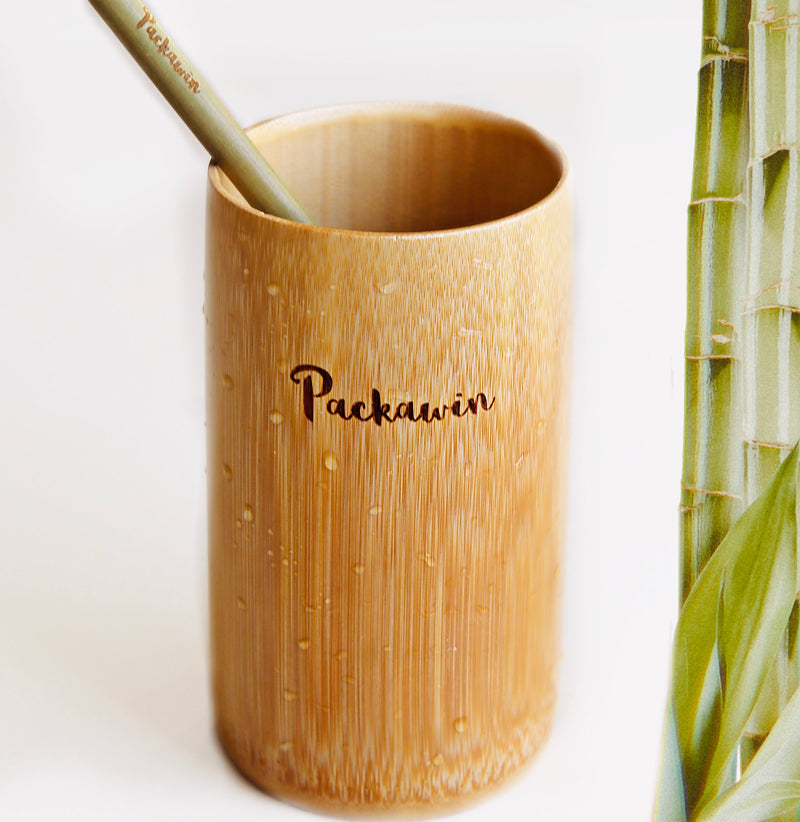 Bamboo glass and bamboo straw - PACKAWIN