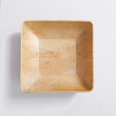 25 Square Palm Leaf Bowls - PACKAWIN