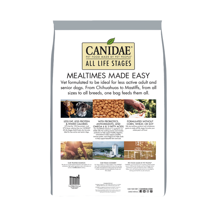 Canidae Platinum Formula for Less Active & Senior Dogs Dry Dog Food