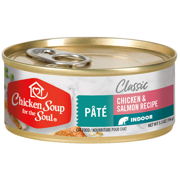 Chicken Soup For The Soul Indoor Recipe with Chicken & Salmon Canned Cat Food