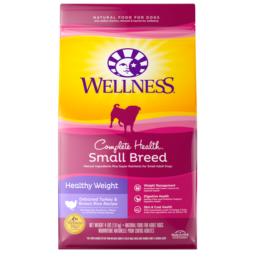 Wellness Complete Health Natural Small Breed Healthy Weight Turkey and Brown Rice Recipe Dry Dog Food