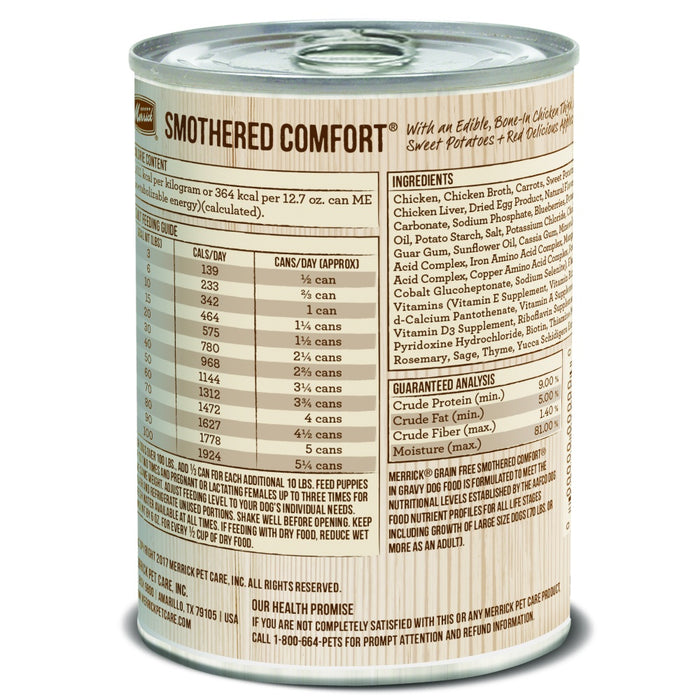 Merrick Grain Free Smothered Comfort Canned Dog Food