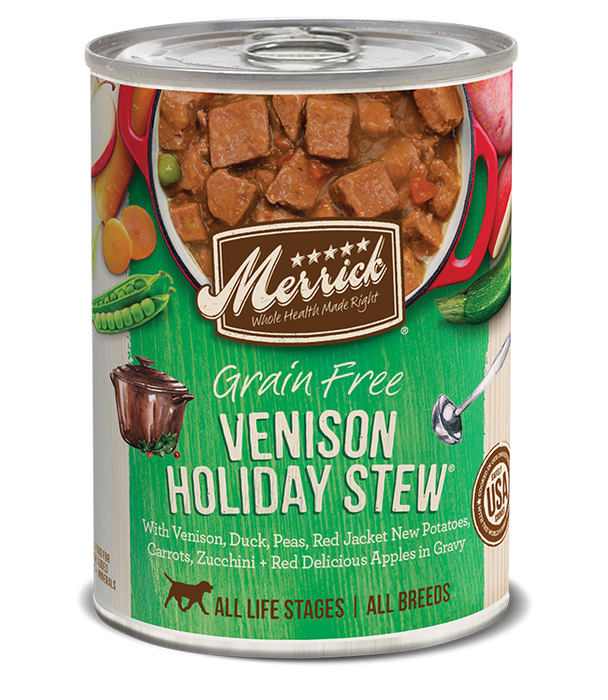Merrick Grain Free Venison Holiday Stew Canned Dog Food