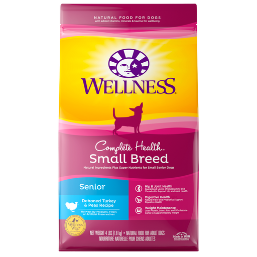 Wellness Complete Health Natural Small Breed Senior Health Recipe Dry Dog Food