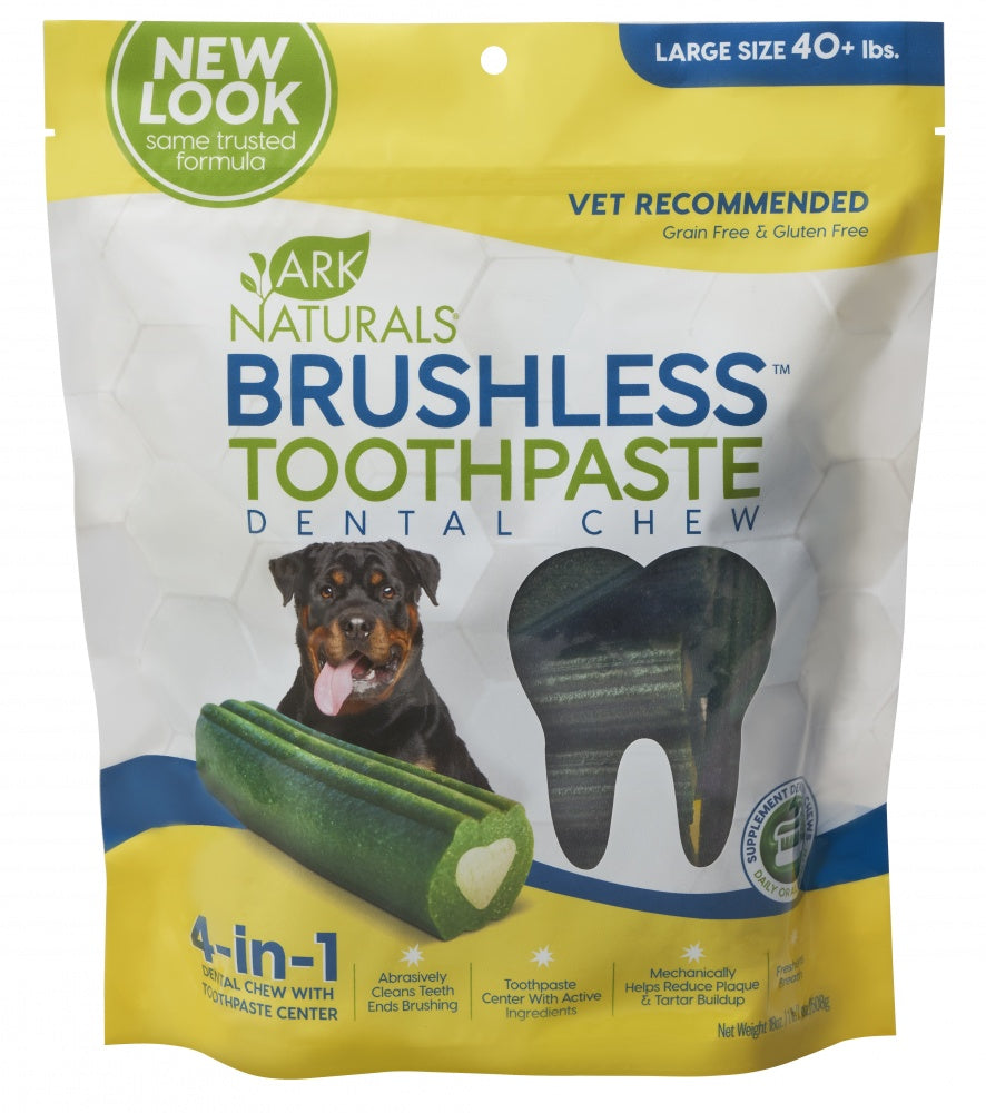 Ark Naturals Brushless Toothpaste Large Dog Treats