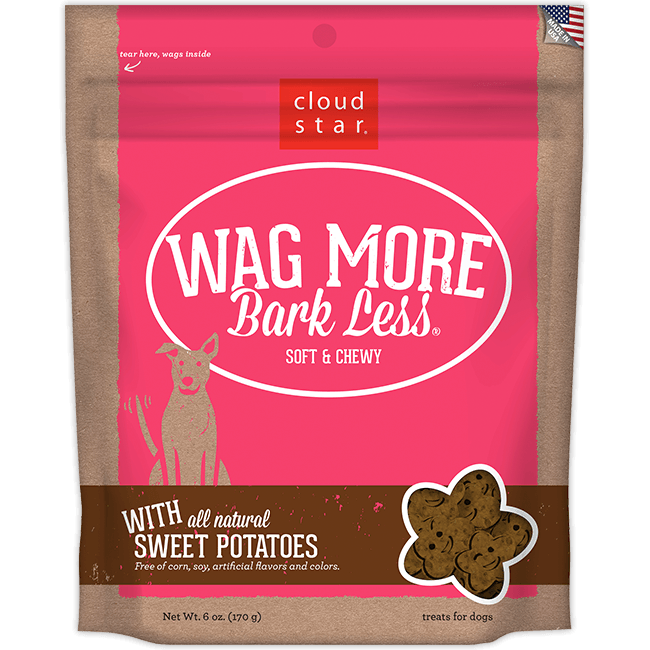 Cloud Star Wag More Bark Less Soft and Chewy Sweet Potatoes Dog Treats