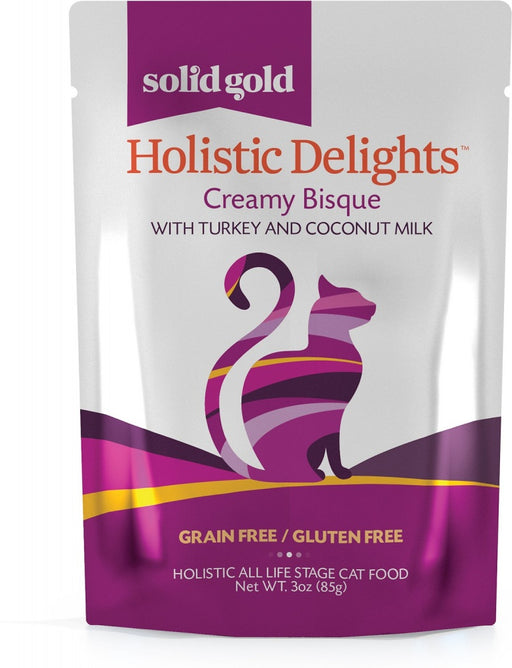 Solid Gold Holistic Delights Grain Free Creamy Bisque with Turkey & Coconut Milk Wet Cat Food Pouch