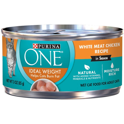 Purina ONE Ideal Weight White Meat Chicken in Sauce Canned Cat Food