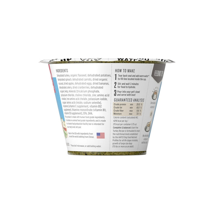The Honest Kitchen Grain Free Turkey Recipe Dehydrated Dog Food Cups