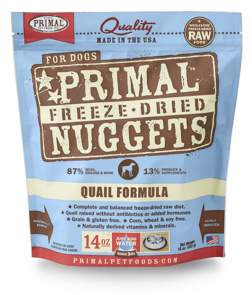 Primal Freeze Dried Nuggets Grain Free Quail Formula Dog Food