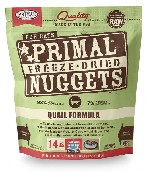 Primal Freeze Dried Nuggets Grain Free Quail Formula Cat Food