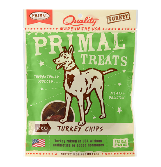 Primal Grain Free Jerky Turkey Chips Dog Treats