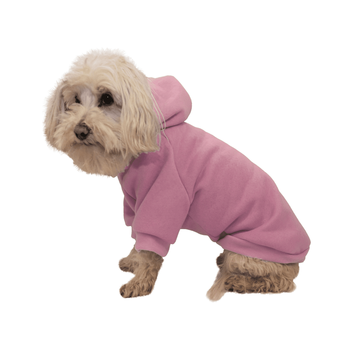 Pet Life Fashion Plush Cotton Hooded Pink Dog Sweater