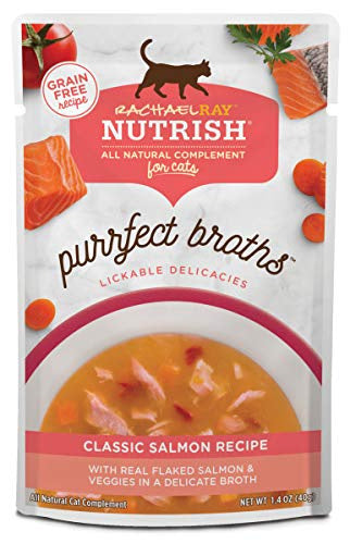 Rachael Ray Nutrish Purrfect Broths Classic Salmon Recipe Wet Cat Food Topper